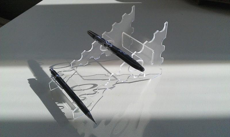 Penholder 3mm Plexi Laser Cut 3d Puzzle Free DXF File