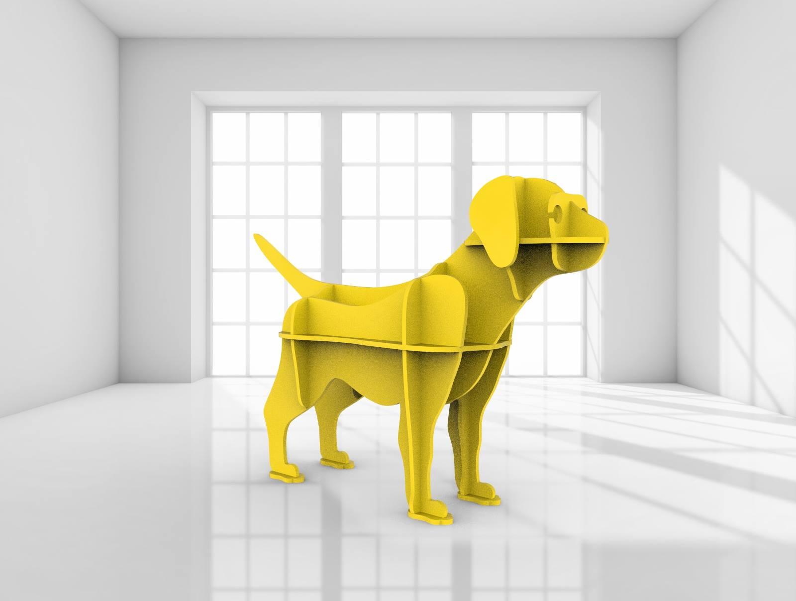 Puppy 3d Laser Cut 3d Puzzle Free DXF File