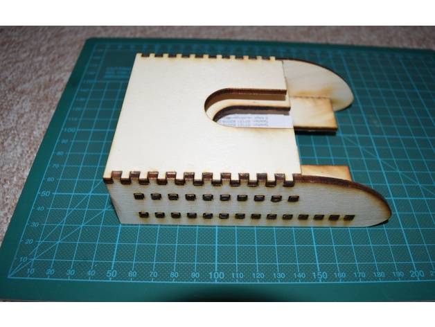 Release Card Collector Laser Cut 3d Puzzle Free DXF File