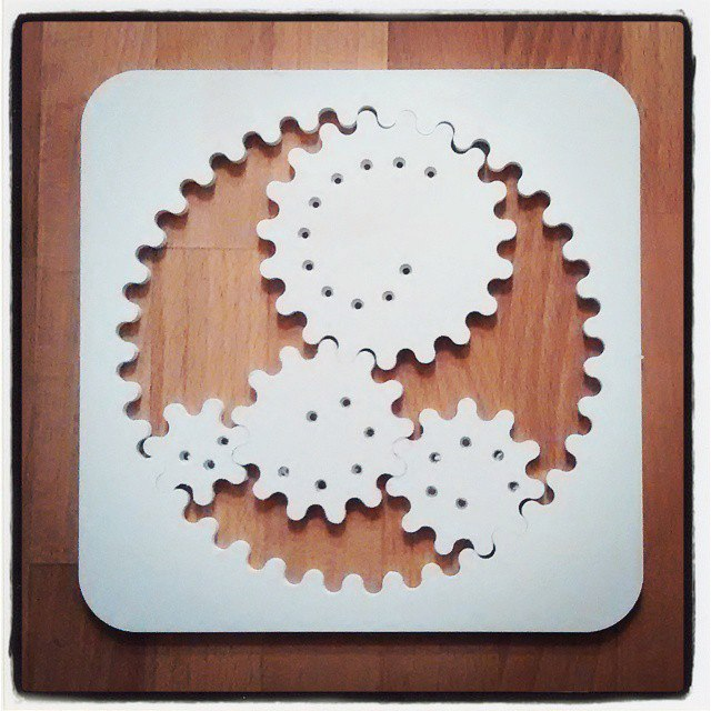 Spirograph Laser Cut 3d Puzzle Free DXF File