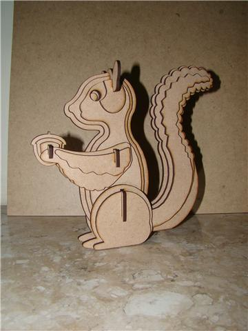 Squirrel For Sarah Laser Cut 3d Puzzle Free DXF File
