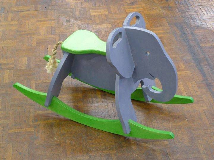 Toy Elephant Rocker Laser Cut 3d Puzzle Free DXF File
