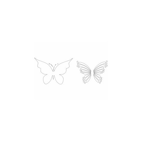 Butterfly 25 Ornament Decor Free DXF File