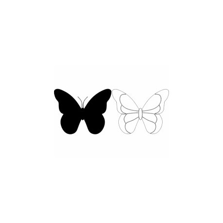 Butterfly 28 Ornament Decor Free DXF File