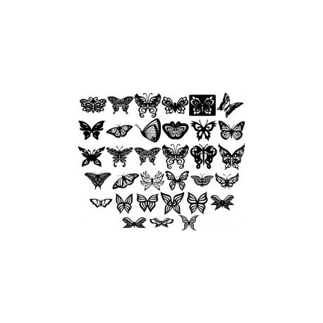 Butterfly Ornaments Decoration Free DXF File