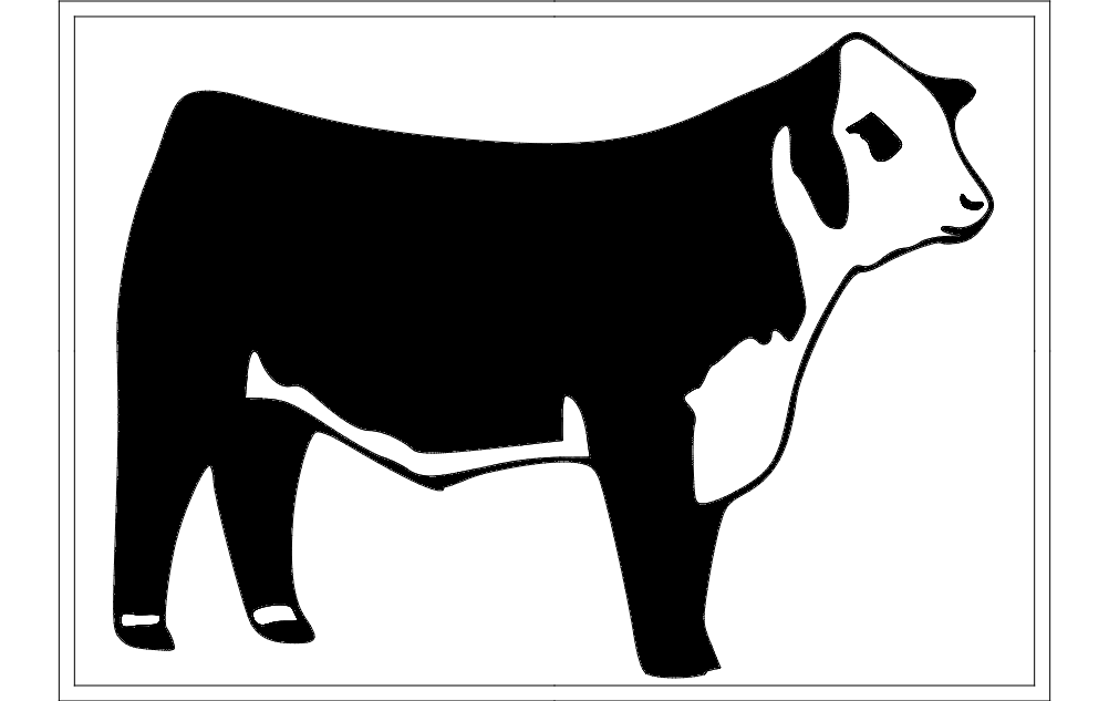 Hereford Cattle Free DXF File