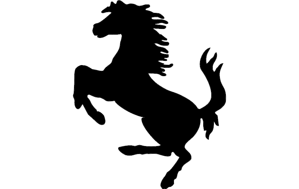 Horse Galloping Silhouette Free DXF File