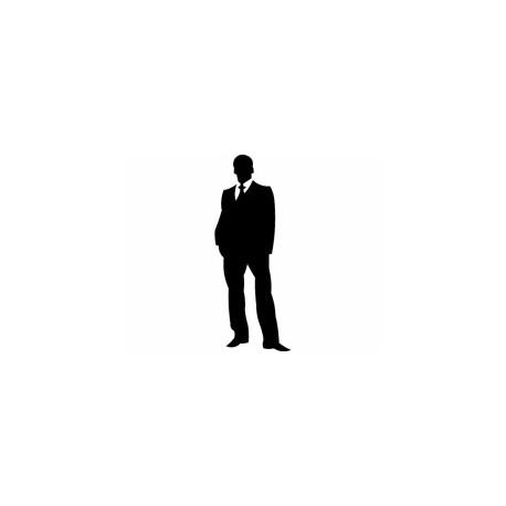 Tabl 9 Man Silhouette Free DXF File