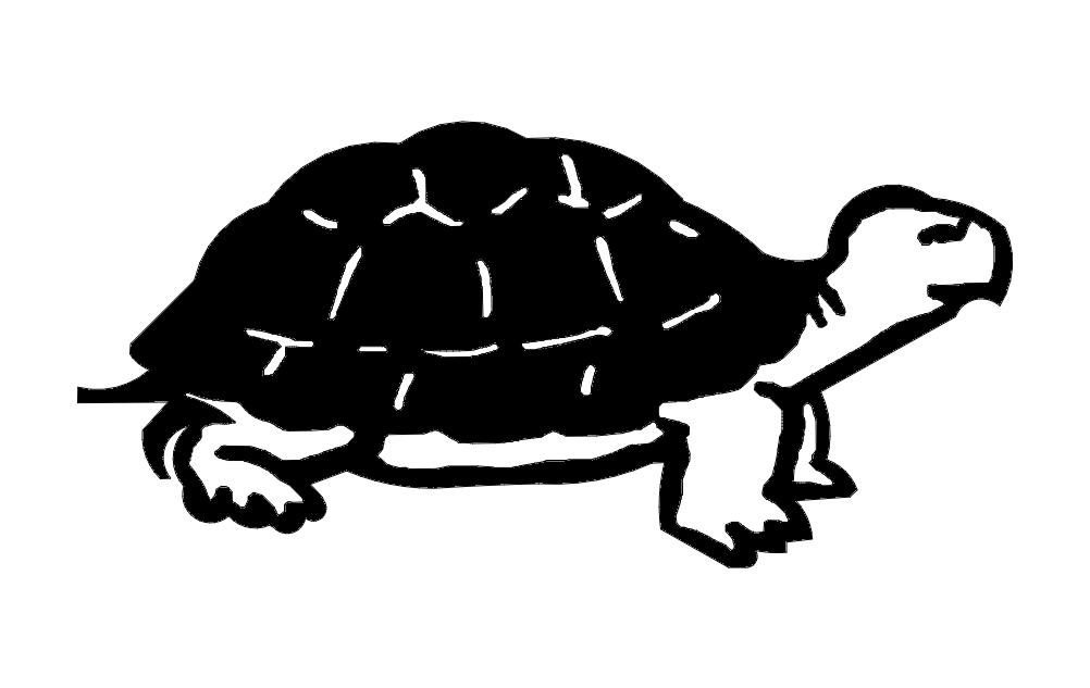 Turtle Animal Free DXF File