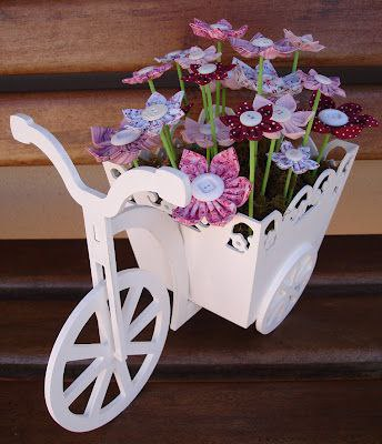 Laser Cut Bicycle With Flower Box 3mm 3d Puzzle Free CDR Vectors Art
