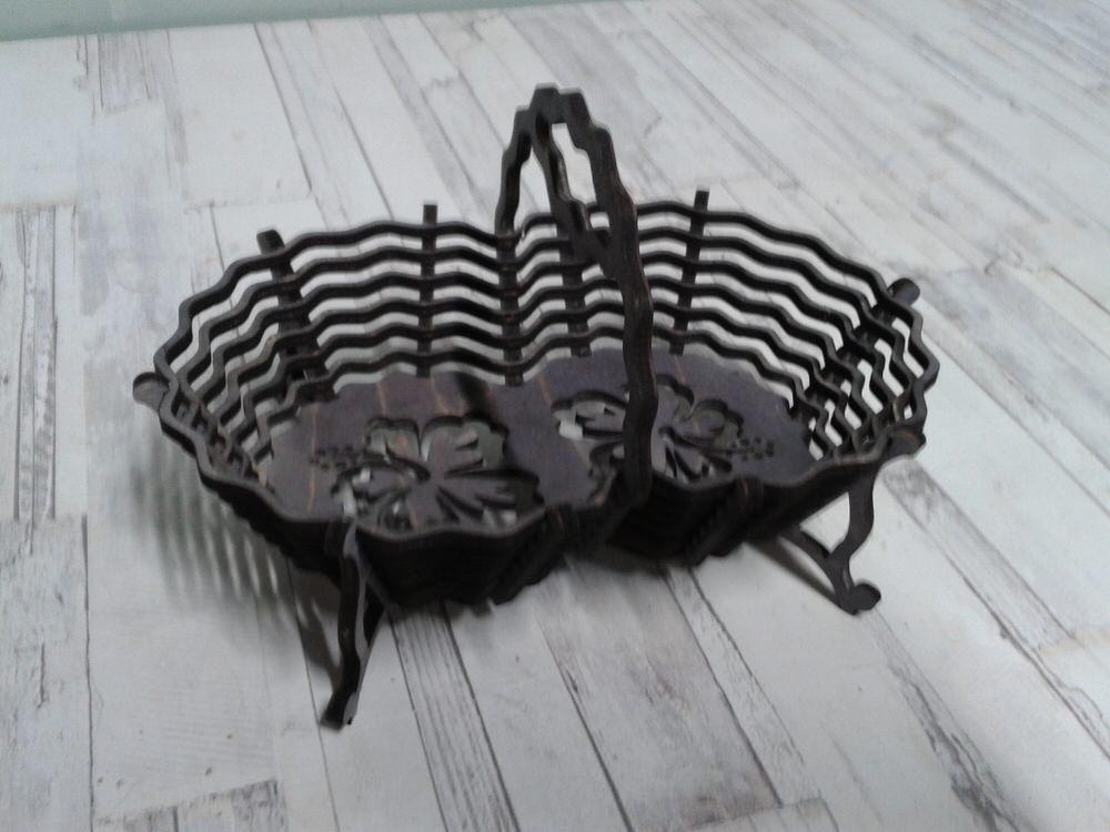 Laser Cut Candy Basket 3d Puzzle Free CDR Vectors Art