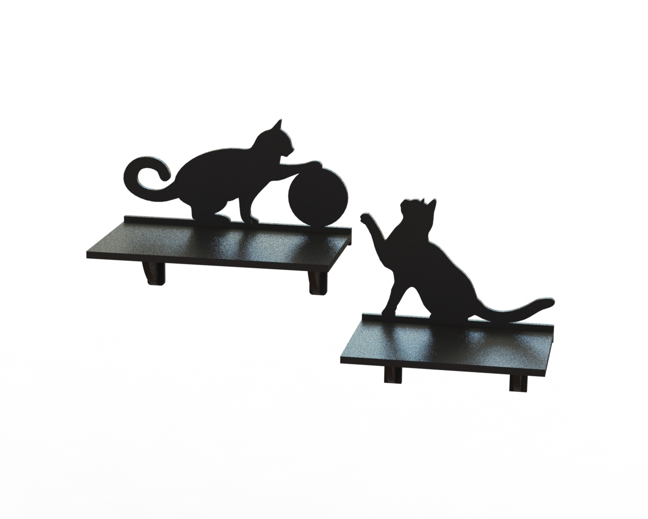 Laser Cut Cat Shelf 3d Puzzle Free CDR Vectors Art
