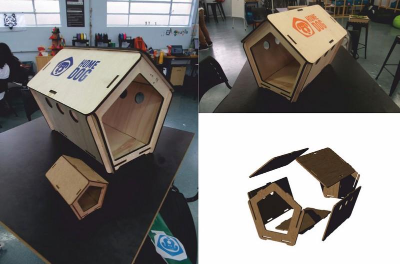 Laser Cut Dog House 3d Puzzle Free CDR Vectors Art