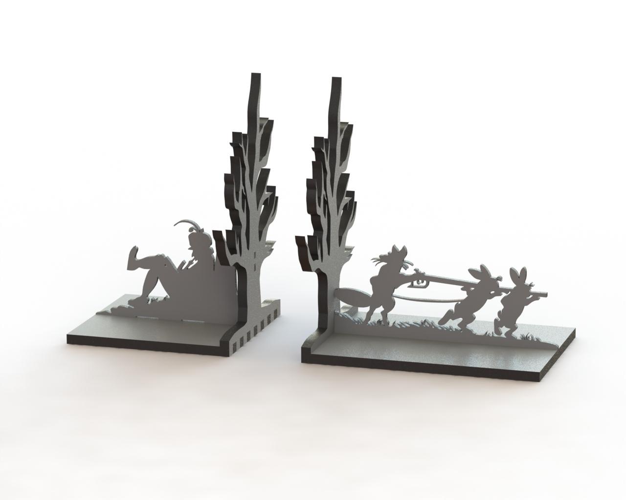 Laser Cut Fable Book Holder 3d Puzzle Free CDR Vectors Art