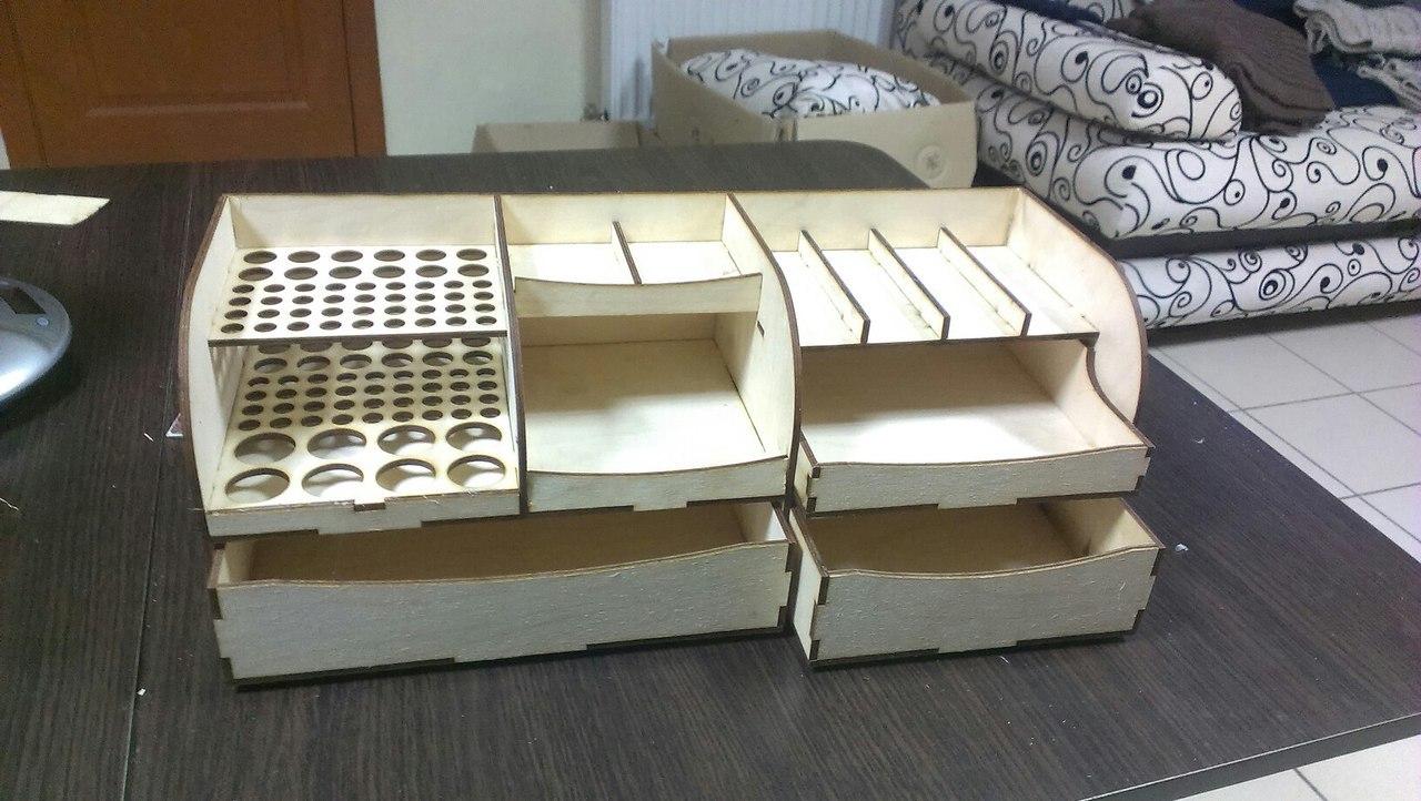 Laser Cut Organizer 3d Puzzle Free CDR Vectors Art