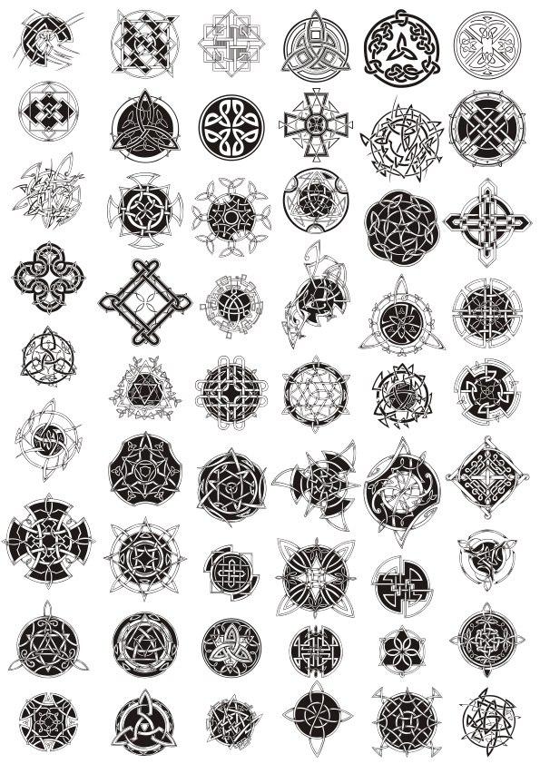 Celtic Ornament Pack Free CDR Vectors Art