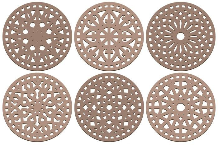 Coasters Laser Cut Decorative Ornament Free CDR Vectors Art