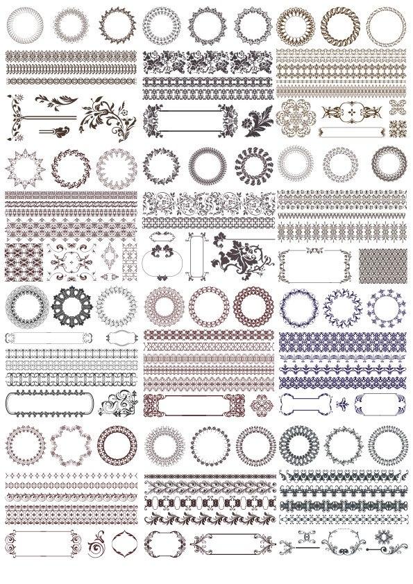 Decor Elements Set Ornament Free CDR Vectors Art