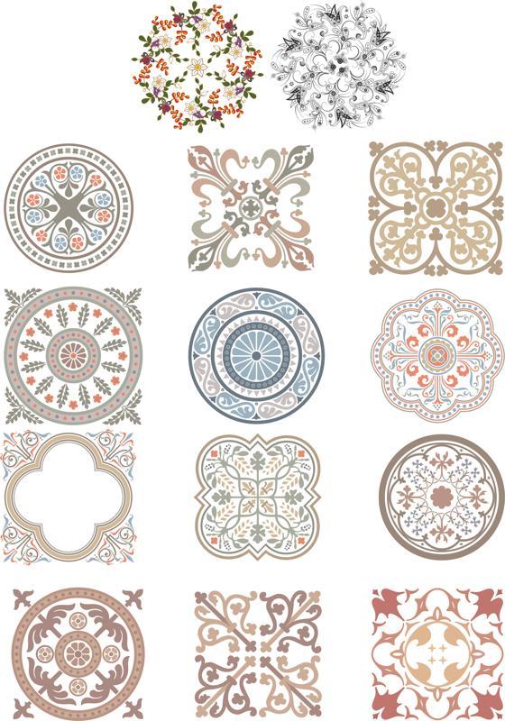 Floral Ornaments Fancy Free CDR Vectors Art