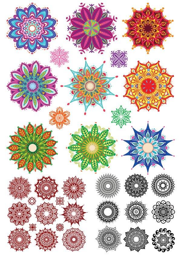 Indian Ornament Collection Set Free CDR Vectors Art
