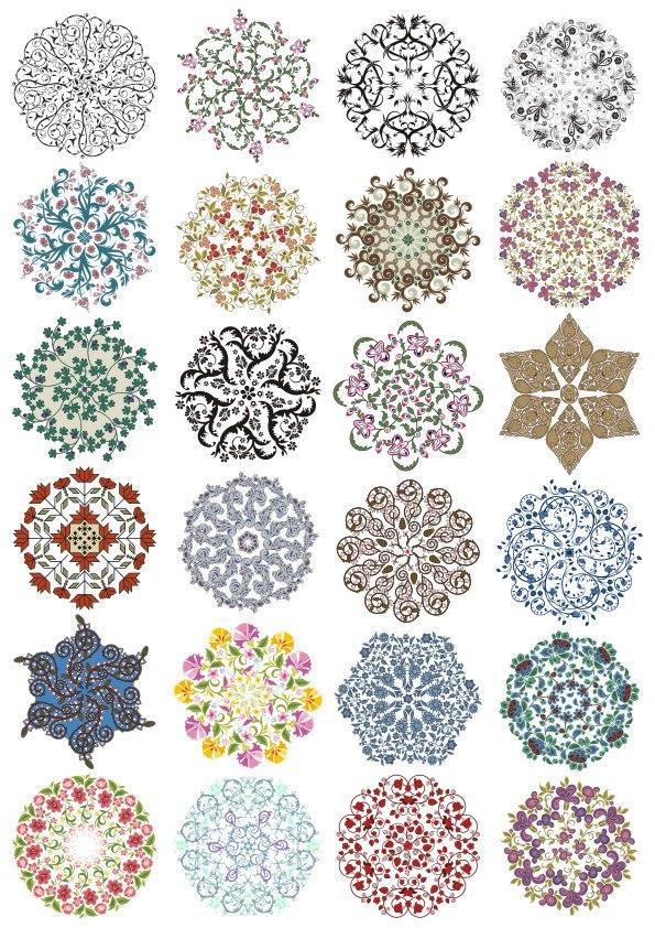 Lace Ornament Set Free CDR Vectors Art