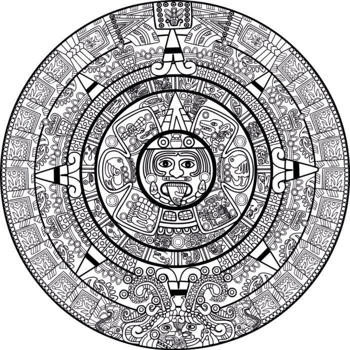 Mayan Calendar Art Ornament Free CDR Vectors Art