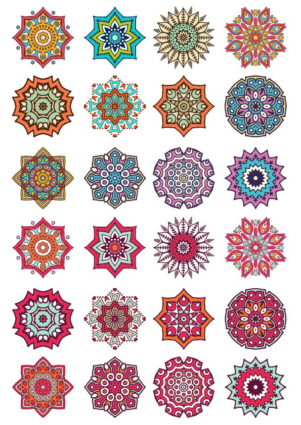 Ornament Collection Set Free CDR Vectors Art