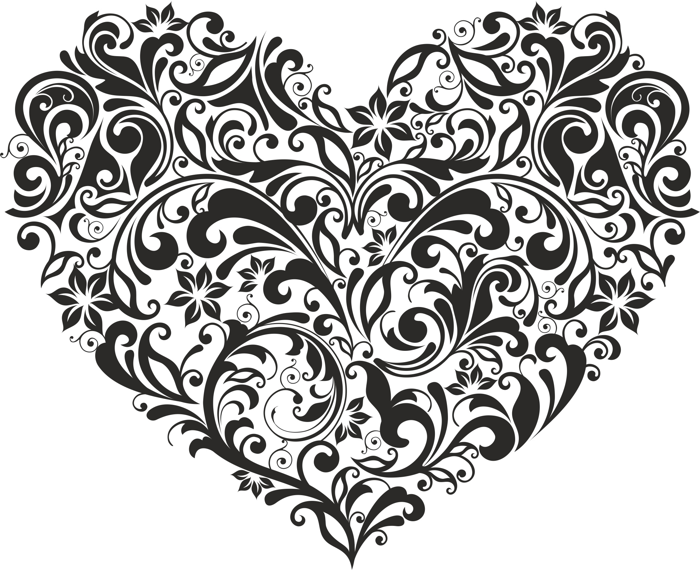 Ornament Heart Style Free CDR Vectors Art