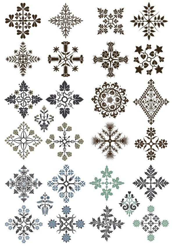 Ornamental Floral Patterns Design Free CDR Vectors Art