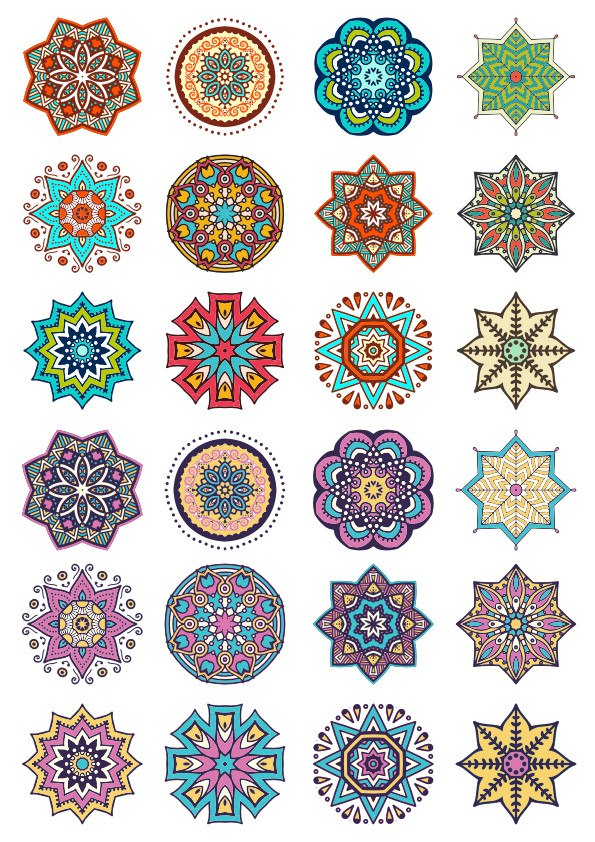 Round Ornaments Collection Art Free CDR Vectors Art