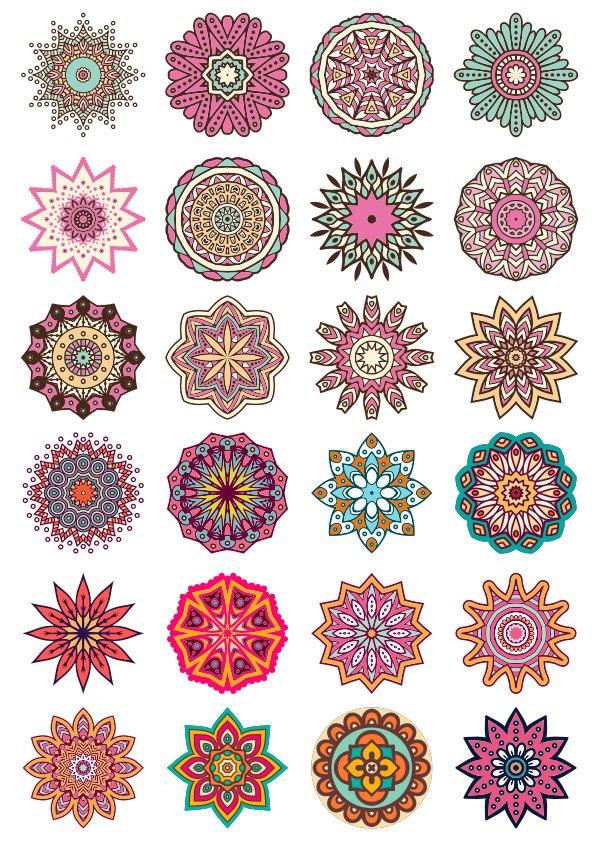 Round Floral Ornaments Free CDR Vectors Art