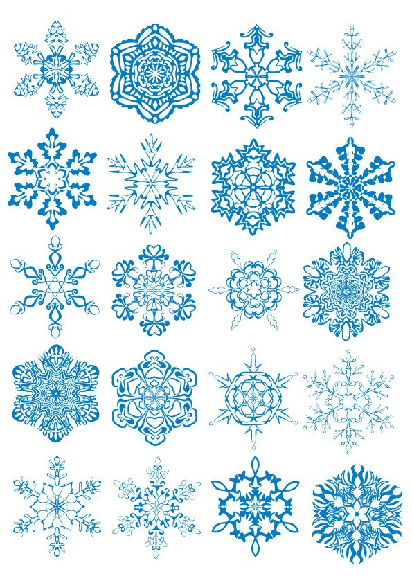 Snowflackes Ornament Free CDR Vectors Art