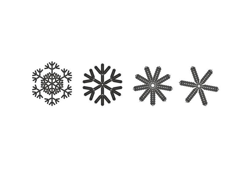 Snowflake Art Ornament Free CDR Vectors Art