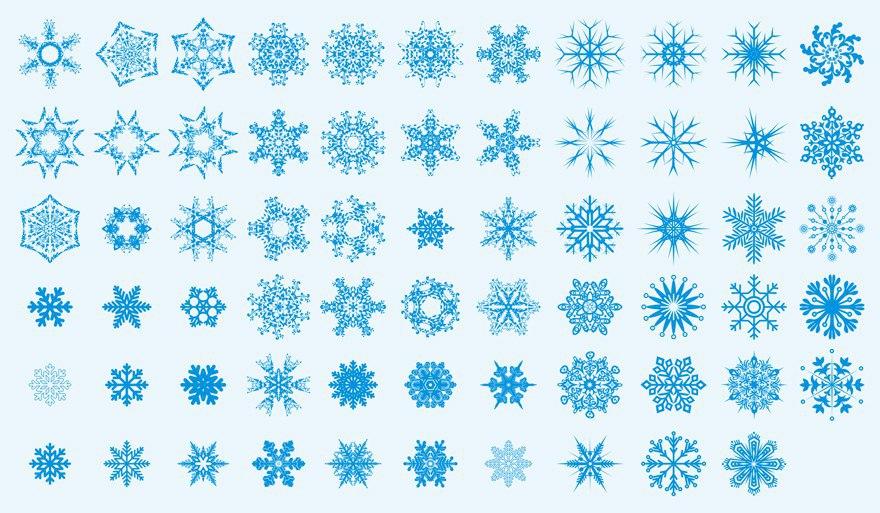 Snowflakes Art Collection Ornament Free CDR Vectors Art