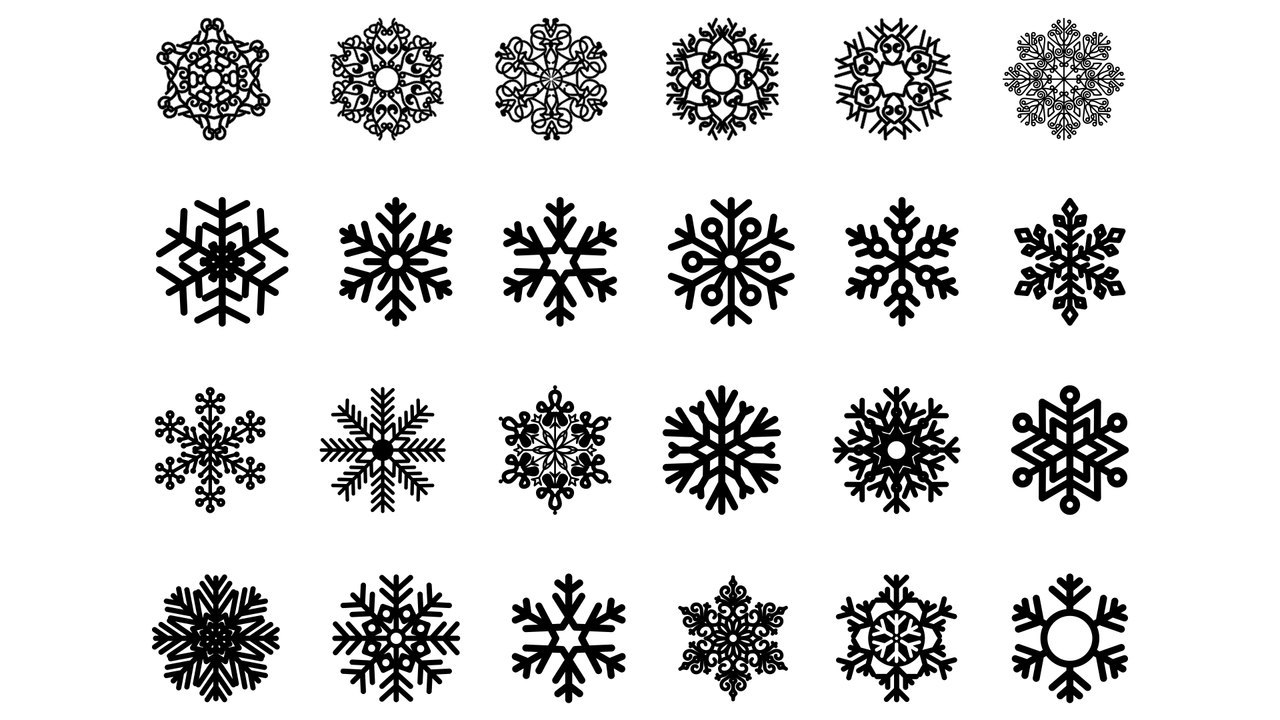 Snowflakes Collection Ornament Free CDR Vectors Art