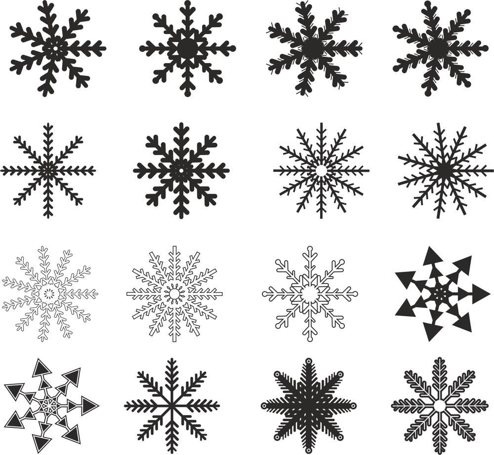 Snowflakes Ornament Free CDR Vectors Art