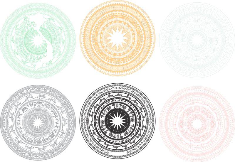 Trong Dong 6 Cai Ornament Free CDR Vectors Art