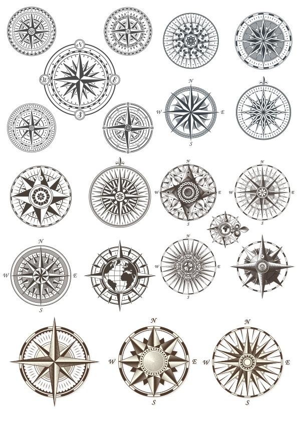 Compass Set Ornament Free CDR Vectors Art