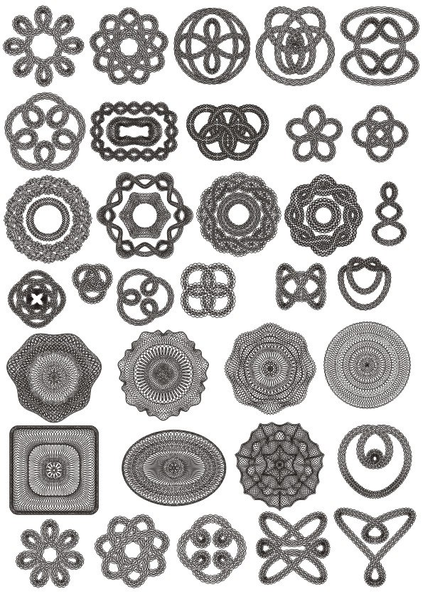 Giliosh Ornament set Free CDR Vectors Art