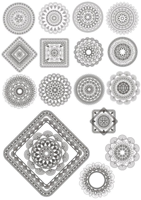 Guilloche Elements Ornament Free CDR Vectors Art