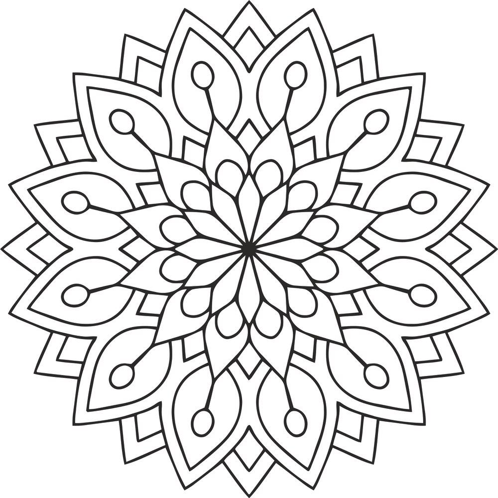 Mandala Des Flower Ornament Free CDR Vectors Art