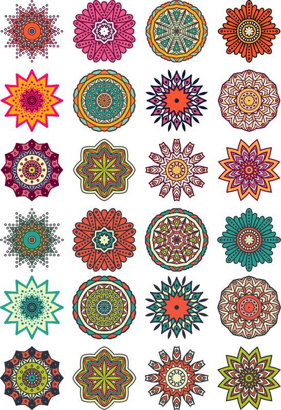 Mandala Flower Motif Ornament Free CDR Vectors Art