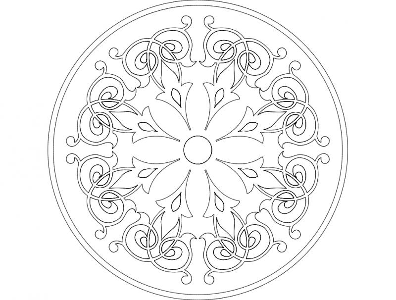 Mandala 4 Ornament Free DXF File