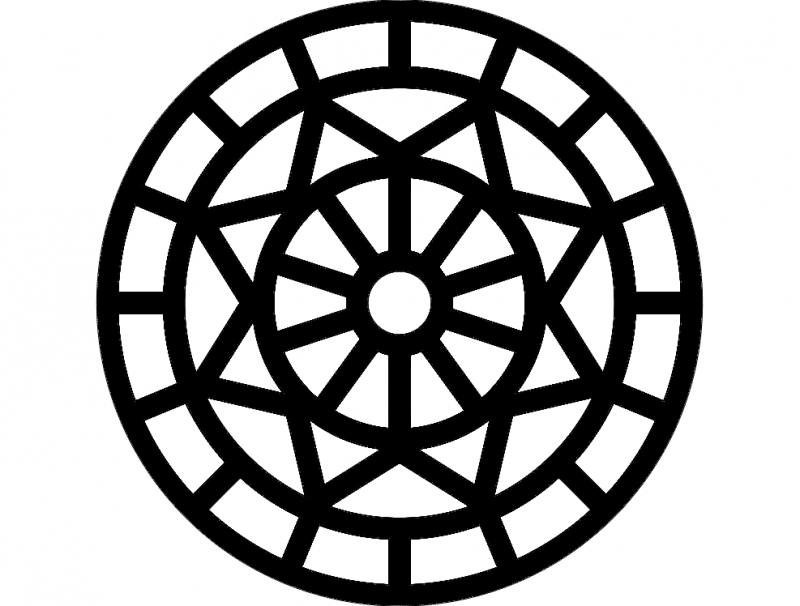 Mandala 6 Ornament Free DXF File
