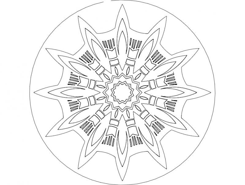 Mandala 7 Ornament Free DXF File