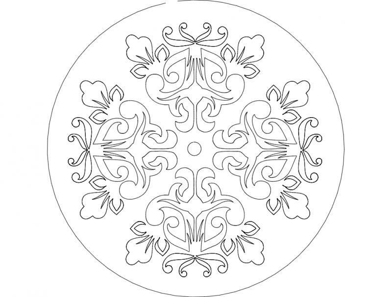 Mandala 8 Ornament Free DXF File