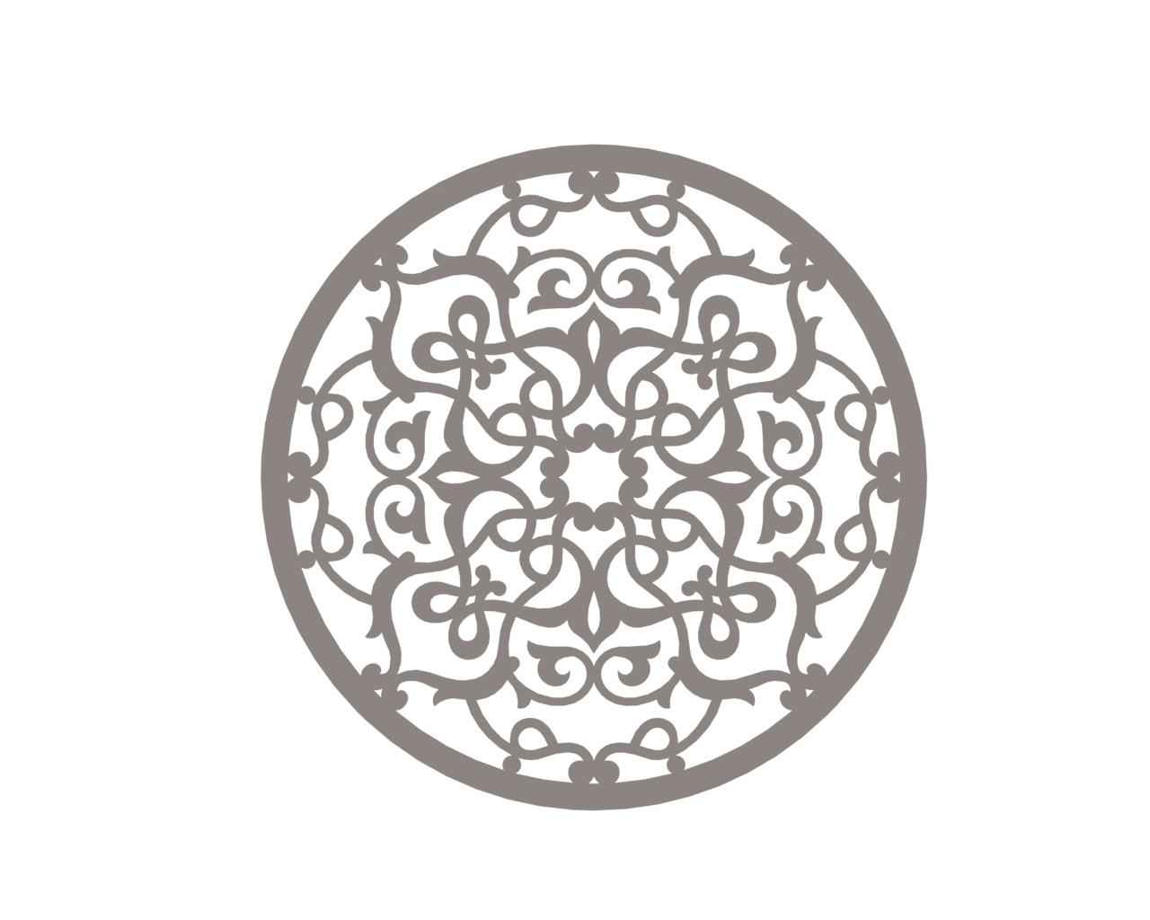 Stylized Mandala Ornament Art Free DXF File