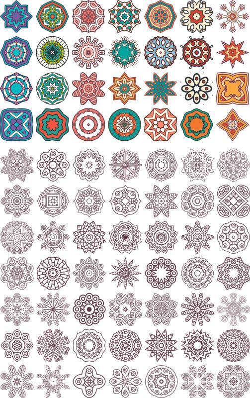 Ornaments Beautiful Card With Mandala Free CDR Vectors Art