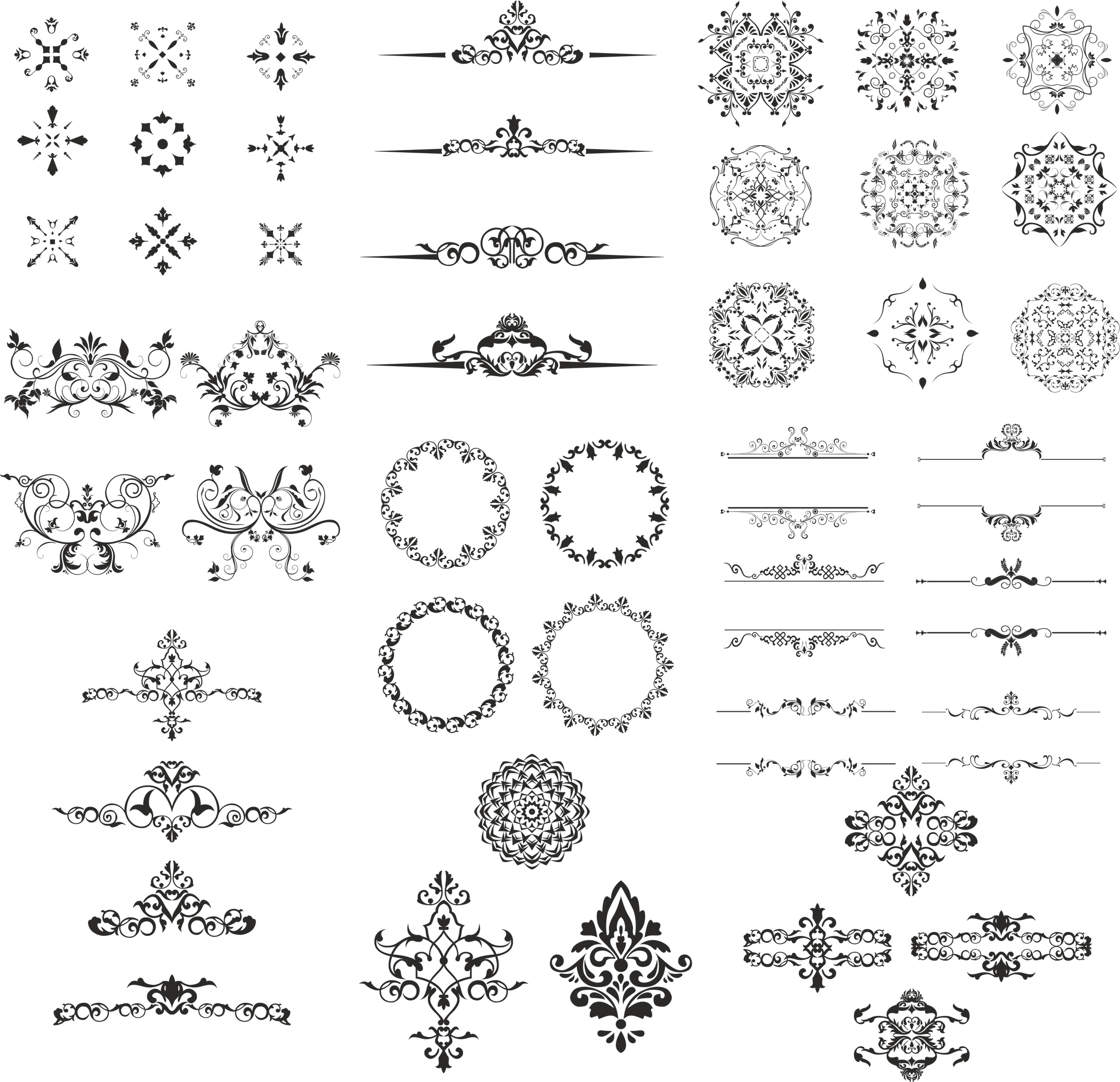 Ornament Design Kit Free CDR Vectors Art