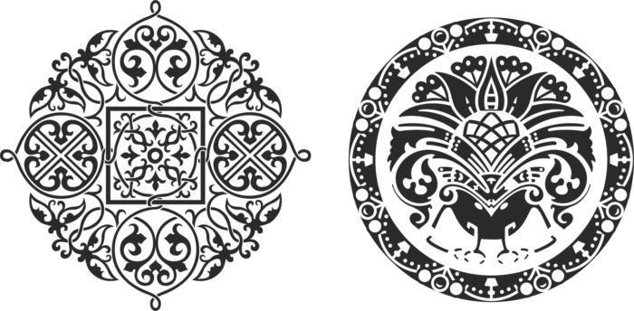 Ornamental Circkles Free CDR Vectors Art